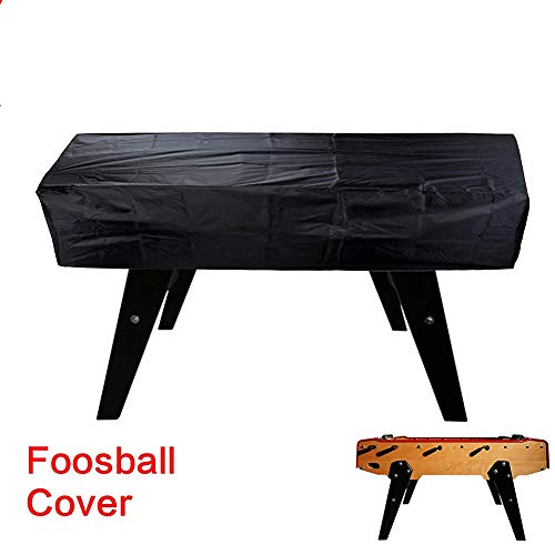 Outdoor Foosball Table Cover Soccer Table Cover,Heavy Duty Waterproof 210D Polyester Rectangular Patio Coffee Chair Billiard Soccer Cover,Dustproof Universal Table Cover for Game RoomCYFC1574 (Black)