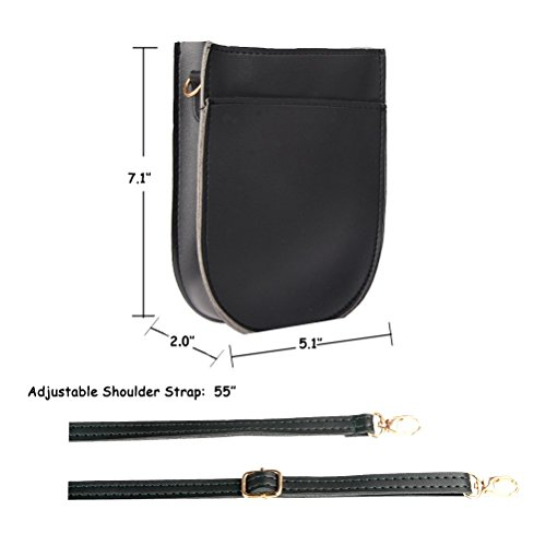Bags With Crossbody Black Phone Cell Straps for Girls Purse Mini Women Leather Teen wW1qqpc06