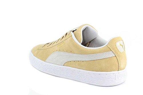 Puma PUMASuede Classic - Klassisch, Wildleder Unisex-Erwachsene Pebble-puma White-puma White