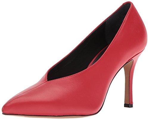 Kenneth Cole New York Kvinna Mariana Pekade Tå Stilett Pump Röd
