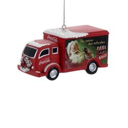 Kurt Adler Coca-Cola Truck With Silver Wreath Christmas Ornament by Coca-Cola