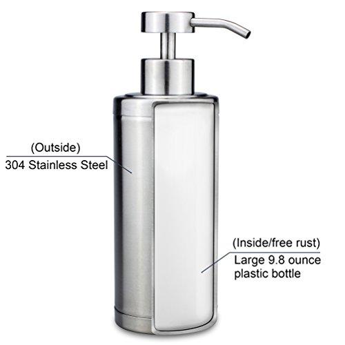 riovoca kitchen countertop stainless steel soap dispenser
