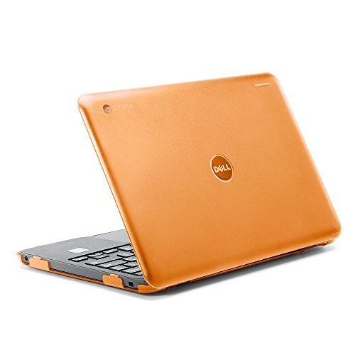 iPearl mCover Hard Shell Case for 2017 11.6 Dell Chromebook 11 3180 Series Laptop (NOT Compatible with 210-ACDU / 3120/3189 Series) (Orange)