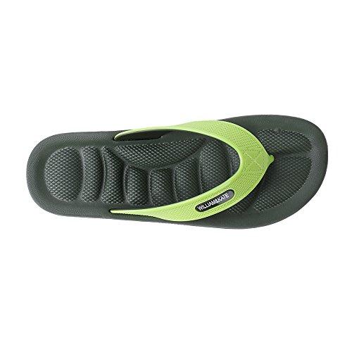 WILLIAM&KATE Men's Fashion Reflexology Sandals Foot Massage Health Flip Flops Sandals Slippers Green 2D9vpyOW