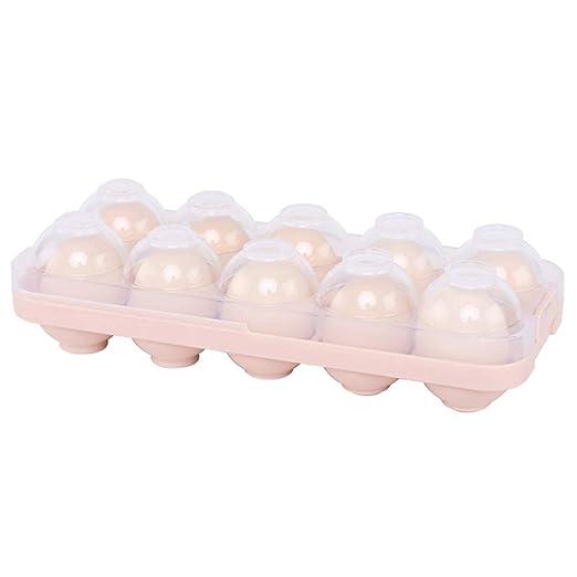 bandeja porta huevos para nevera, caja huevera de 10 agujeros para ...
