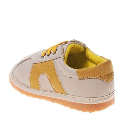 Little Blue Lamb - Krabbelschuhe Babyschuhe squeaky Leder - Jungen   Beige und gelb sneakers - Größe: 23