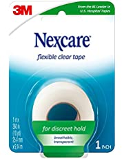 Nexcare Flexible Clear Plastic First-Aid Tape, 25.4mm x 9.14m