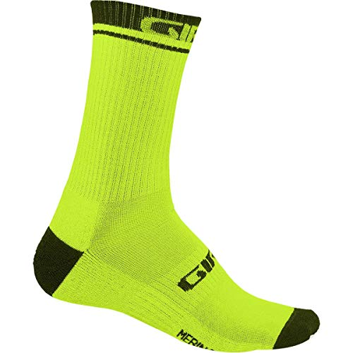 (Giro Merino Winter Sock Lime/Black, S - Men's)