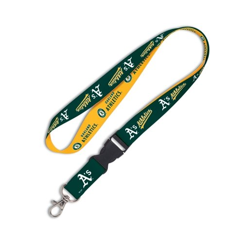 WinCraft MLB Oakland A's Lanyard with Detachable Buckle, 3/4