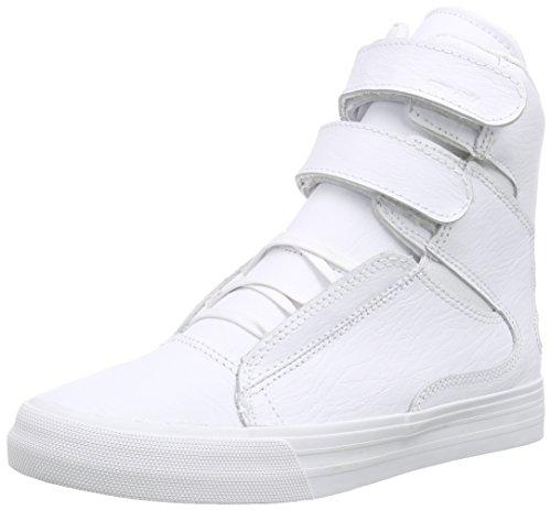 Supra Society Ii - Zapatillas unisex Blanco  Wei (White / White  Red Wwr)