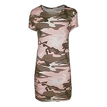 New Kids Girls Camouflage Midi Maxi Dress Top Age 7- 13 Years