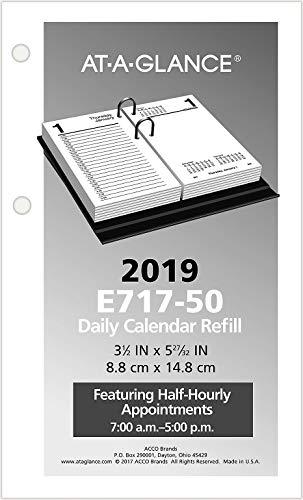 AT-A-GLANCE Desk Calendar Refill, 3 x 6 Inches, 2019 - Calendar Mead Refill