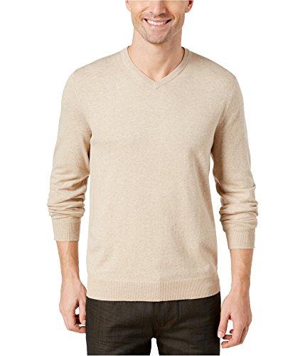 Alfani Sweater - Alfani Mens Knit Pullover Sweater Beige 2XL