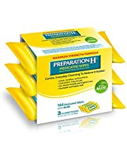 Preparation H Medicated Wipes with Aloe, 144 ct.