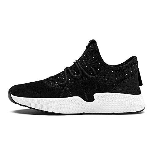 Men's Shoes Feifei Spring and Autumn Leisure Fashion Tide Shoes 3 Colors (Size Multiple Choice) (Color : Black, Size : EU42/UK8.5/CN43)