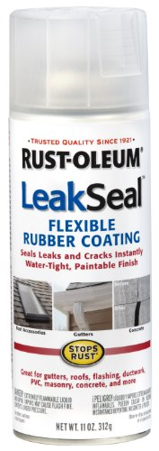 Rust-Oleum 265495 11-Ounce Leak Seal Flexible Rubber Sealant, - Leaf Seal Silver