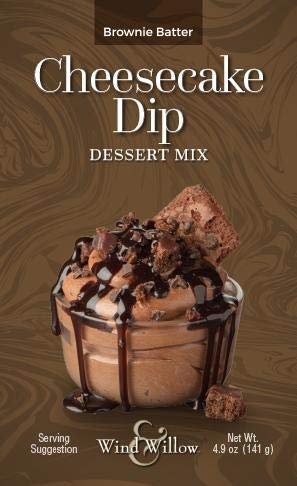 Wind and Willow Cheesecake Dip Dessert Mix (Brownie Batter, 4.9 oz)