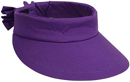 Apollo Ladies  Spring Summer Collection Denim Visor Hat w Bow Decor ... 15403b6096bd