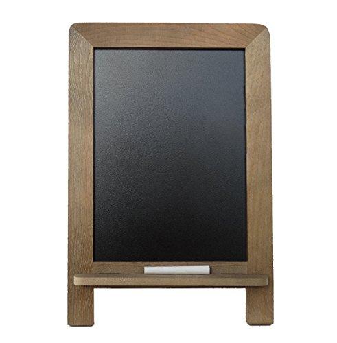 "Standing Vintage Kitchen Chalkboard (14"" x 9.5"") - Decorative Restaurant Chalkboard for Rustic Wedding, Presentation, Bar Menu, & Kitchen Decor + BONUS CHALK INCLUDED"
