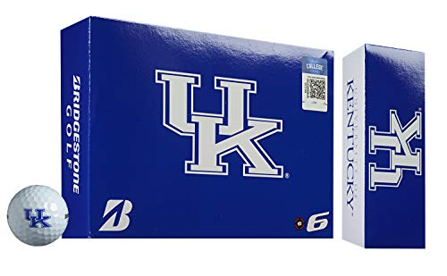(Bridgestone 6SWXNCAKY E6 Kentucky Wildcats Golf Balls (1 Dozen), White)