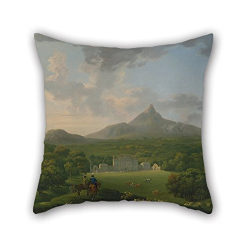 Loveloveu Pillow Shams Of Oil Painting George Barret - Powerscourt, County Wicklow, Ireland,for Relatives,teens,monther,sofa,father,christmas 16 X 16 Inches / 40 By 40 Cm(each ()