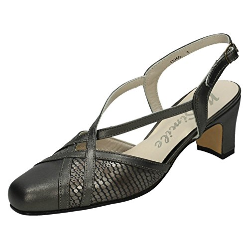 Nil Simile Ladies Bandana Narrow Fitting Formal Shoes Platinum/Malasia Snake (Grey) Ktc51Y