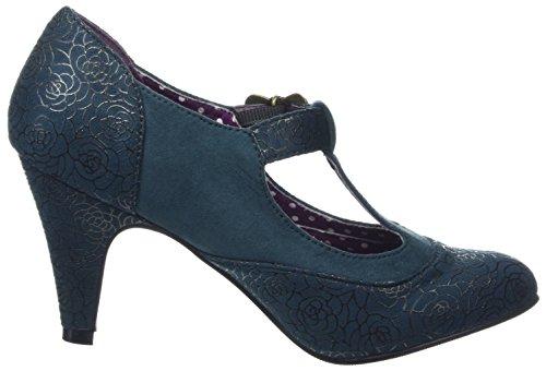 T and Pumps Browns Grün Teal Damen Unique A Joe Boutique Spangen Shoes SqYntHwfAw