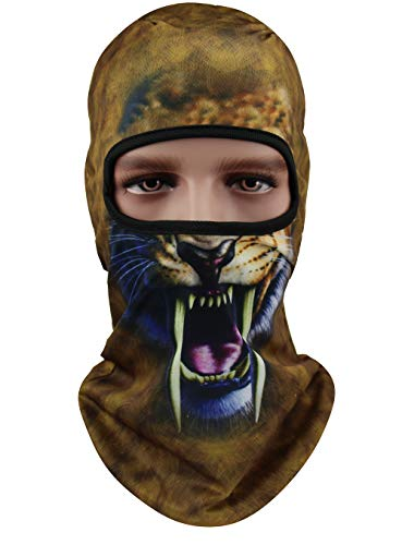 Windproof Animal Ski Mask Motorcycle Helmet Balaclava Face Mask - Outdoor Cycling Fishing Hunting Mask (Brown)