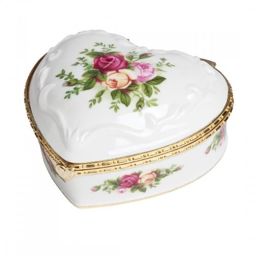 Royal Albert Old Country Roses Heart 4-Inch Jewelry Box If You Love Me