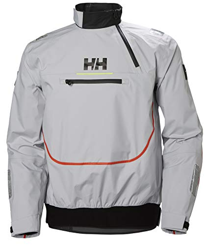 Helly Hansen Men's Hp Foil Waterproof Breathable Sailing Smock Top, Grey Fog, 2X-Large (Breathable Smock)