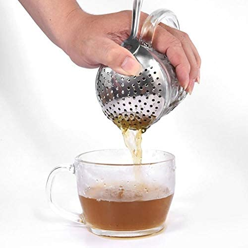 OHOME 1 PC Julep Strainer Stainless Steel 304 Bar Cocktail Strainer Ice Drink Filter Spoon Strainer Bartender Tool