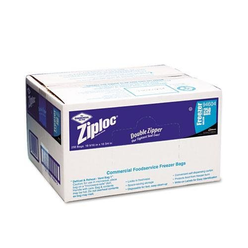 Ziploc Products - Ziploc - Commercial Resealable Freezer Bag, Zipper, 2 gal, 13 x 15-1/2, Clear, 100/Carton - Sold As 1 Carton - Convenient resealable bags in economical food service sizes allow for space-saving storage. - Sturdy, high-quality construction is disposable for fast, easy clean-up. - Convenient self-dispensing cartons. - Features write-on labels for content identification and dating. - Unique interlocking zipper seals securely, locking in freshness and protecting foods from dry
