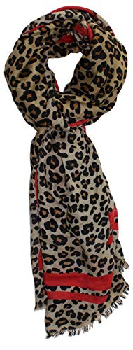 Ted and Jack - Oversized Classic Leopard Print Fashion Scarf in Brown