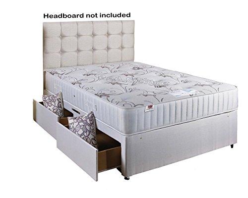 Comfort Rest Divan Bed with Memory Foam Mattress 2 Draws No Headboard- Double (4'6) SOMNIOR BEDS LTD REST-46-2D-SS