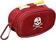 Colcolo Golf Ball Pouch Bag Zipper Golf Tee Holder Belt Waist Bag Portable Golf Divot Repair Tool Holder Golf