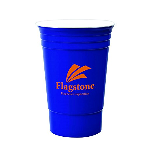 16 Oz. Double Wall Party Cup - 200 Quantity - $2.50 Each - PROMOTIONAL PRODUCT / BULK / BRANDED with YOUR LOGO / CUSTOMIZED by Sunrise Identity (Image #1)