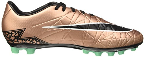 Nike Hypervenom Phelon II AG-R, Botas de Fútbol para Hombre Marrón / Negro / Verde / Blanco (Mtlc Rd Brnz/Blk-Grn Glw-White)