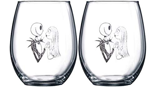 Nightmare Before Christmas Collectible Wine Glass Set (Jack & ()