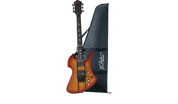 B.C. ricos Mockingbird St guitarra, Trans miel Burst con rieles de madera de ébano: Amazon.es: Instrumentos musicales
