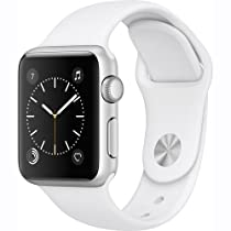 Apple Watch Series 1 38mm Smartwatch (Silver Aluminum Case, White Sport Band)