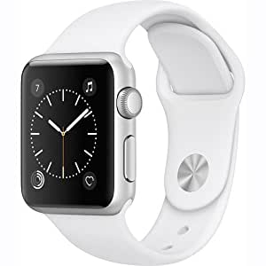 Apple Watch Gen 2 Series 1 38mm Silver Aluminum - White Sport Band MNNG2CL/A