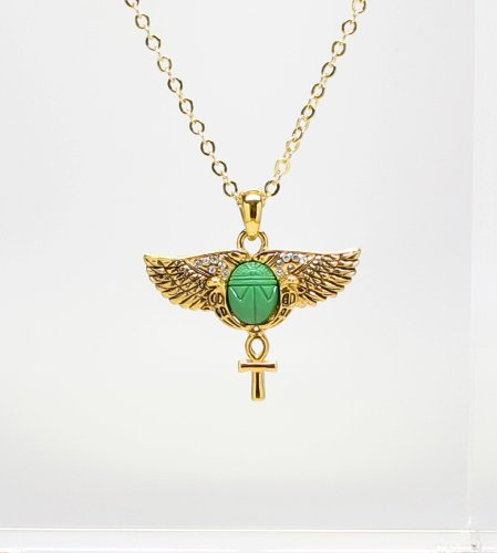 Amazon egyptian scarab wings ankh necklace jewelry egyptian scarab wings ankh necklace aloadofball Images
