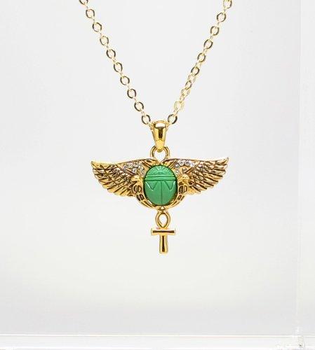 Amazon egyptian scarab wings ankh necklace jewelry egyptian scarab wings ankh necklace aloadofball Choice Image