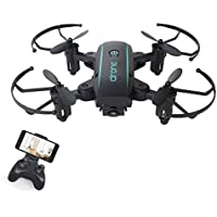 NiGHT LiONS TECH 1601 WIFI Quadcopter With Camera Folding RC Mini Quadcopter Selfie Pocket Drone (black)