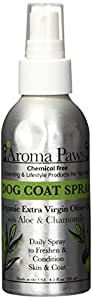 Aroma Paws Dog Coat Spray, 4.5-Ounce, Olive Oil