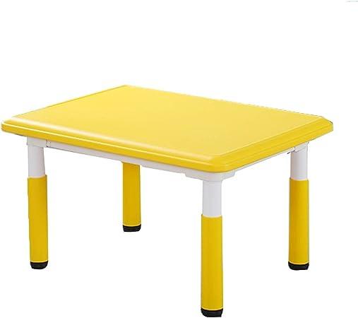 LIANGJUN Juegos De Mesa Y Sillas for Niños Jardín De Infancia Escritorio Estudiar El Plastico Jardín Dentro Muebles De Casa De Muñecas, Niños Y Niñas (Color : Yellow, Size : A): Amazon.es: