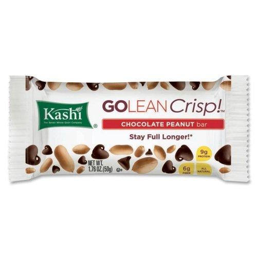 Kashi Go Lean Chocolate Peanut Butter Crunch Bar - Individually Wrapped - Chocolate Peanut Butter - 1-2.75 oz - 12 / Box (Peanut Kashi Butter)