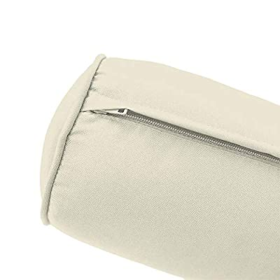 MH GLOBAL Piped Trim Large Bolster Pillow Slip Cover Only 26