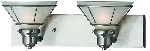Dolan Designs 632-09 2Lt Bath Satin Nickel Craftsman 2 Light Bathroom Fixture,