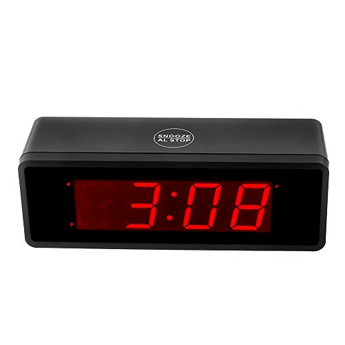 kwanwa alarm clock battery operated powered only with 1 4 39 39 big red led numbers display buy. Black Bedroom Furniture Sets. Home Design Ideas